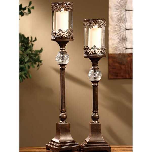Traditions 2 Piece Metal Ashland Candlestick Set b