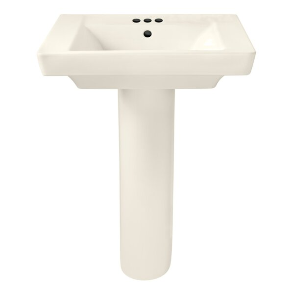 Boulevard Vitreous China 24 Pedestal Bathroom Sink with Overflow by American Standard