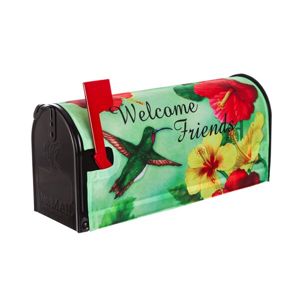 Hummingbird Welcome Mailbox Cover by Evergreen Flag & Garden