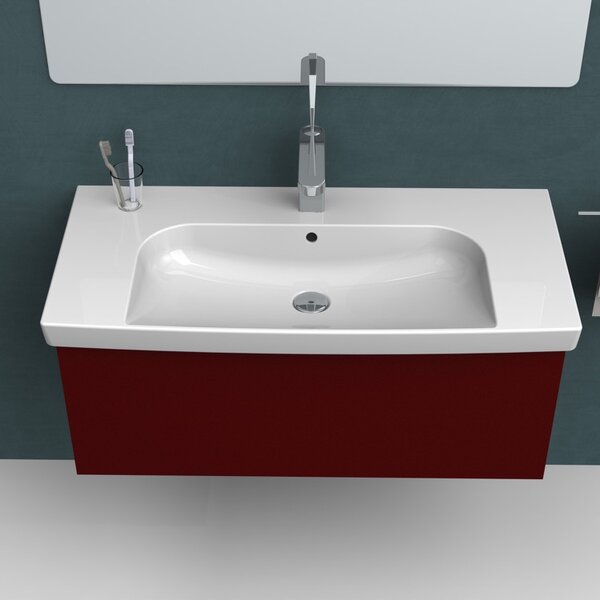 Roma Ceramic Rectangular Drop-In Bathroom Sink with Overflow by CeraStyle by Nameeks