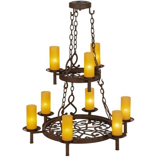 Bayport 9 - Light Candle Style Tiered Chandelier by Fleur De Lis Living Fleur De Lis Living