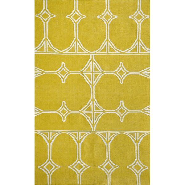 Fitchburg Yellow Indoor/Outdoor Area Rug by Ivy Bronx