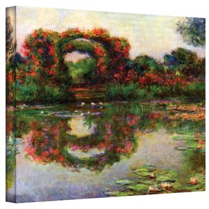 ''Foliage Trestle'' by Claude Monet Painting Print on Canvas by ArtWall
