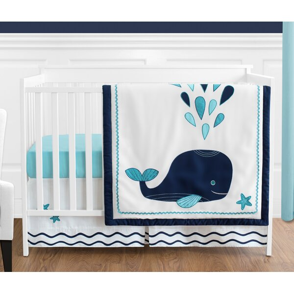 Whale 4 Piece Crib Bedding Set by Sweet Jojo Designs