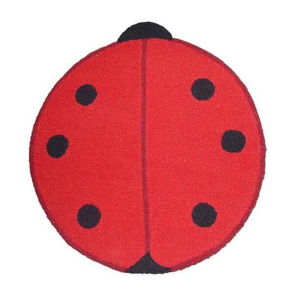 Ladybug Red/Black Small Spots Area Rug by Patch Magic
