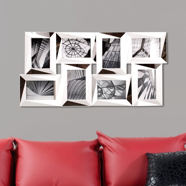 Mira 8 Piece Mirrored Wall Collage Photo Frame Set by nexxt Design