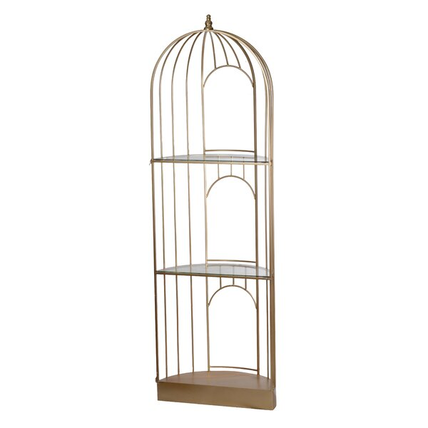 Akridge Caged Etagere Bookcase by One Allium Way