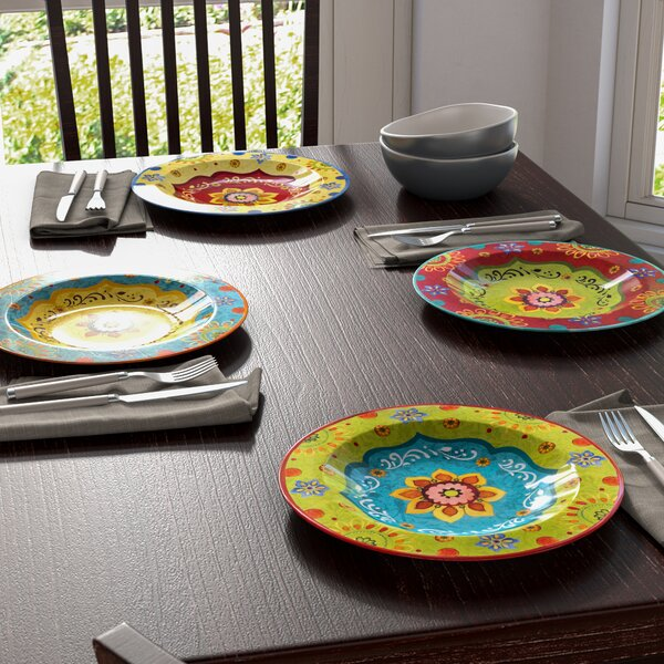 Ohlman 10.5 Dinner Plate (Set of 4) by Alcott Hill