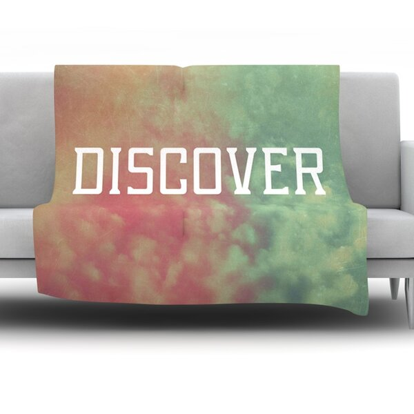 Discover by Rachel Burbee Fleece Throw Blanket by KESS InHouse