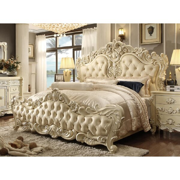 Quiroz Traditional Victorian Style Upholstered Standard Bed by Rosdorf Park