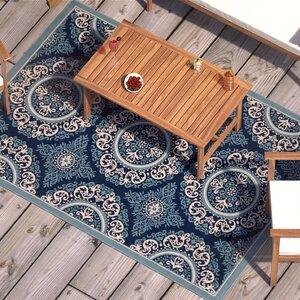 Roulston Blue Indoor/Outdoor Area Rug