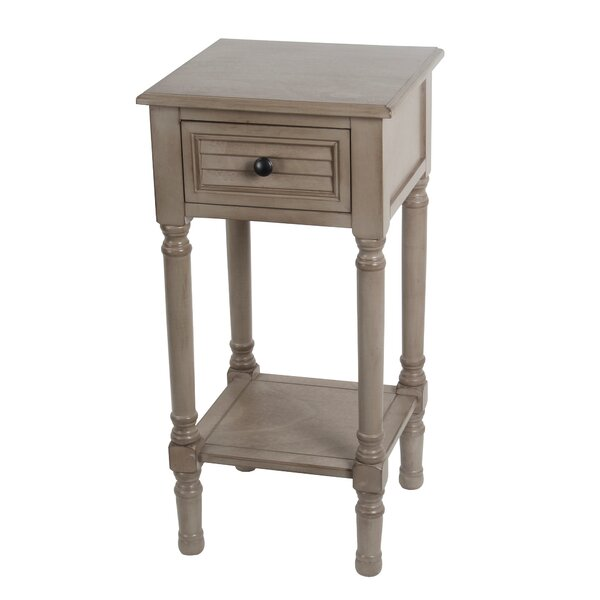 Marwan 1 Drawer End Table by Lark Manor