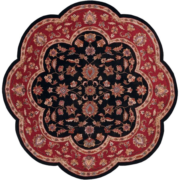 Shapes Black/Red Persian Area Rug by LR Resources
