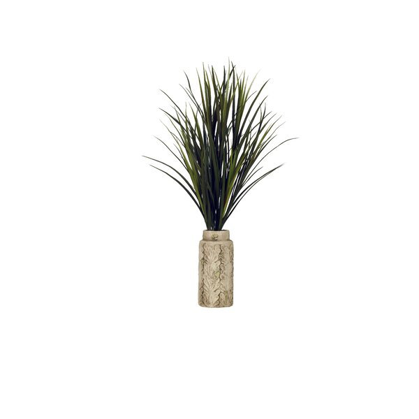 Tall Mango Grass Floor Plant in Planter by Bay Isle Home