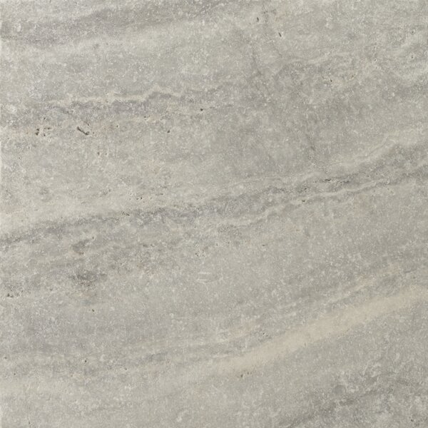 Travertine 16 x 16 Field Tile in Ancient Tumbled Silver by Emser Tile