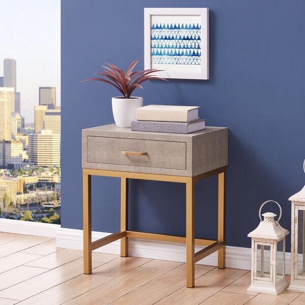 Persephone End Table with Storage by Mercer41