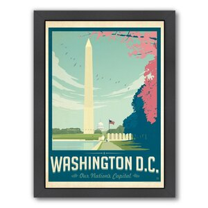 Washington D.C 1003 Framed Vintage Advertisement by East Urban Home