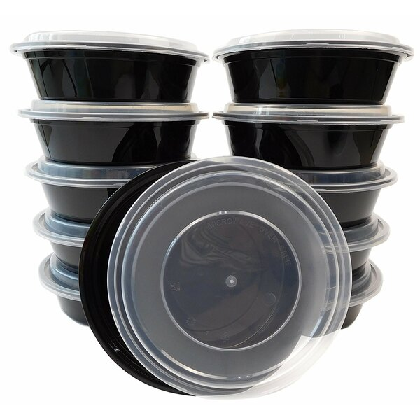 Round Lunch Boxes 24 Oz. Food Storage Container with Lid (Set of 50) by Rebrilliant