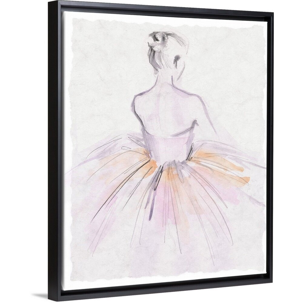 House Of Hampton Watercolor Ballerina Ii Painting On Canvas Reviews Wayfair