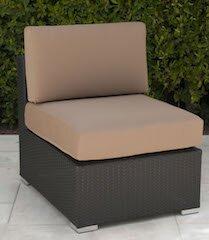 Wicker Armless Chair with Cushion by Trijaya Living