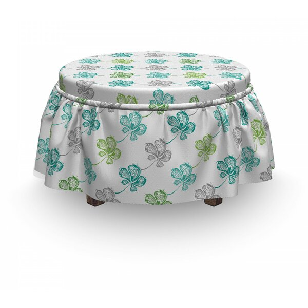 Petals With Dots Paisleys Ottoman Slipcover (Set Of 2) By East Urban Home