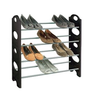 Buy clear 4 Tier Shoe Rack By Richards Homewares