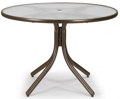 Glass 42 Round Dining Table by Telescope Casual