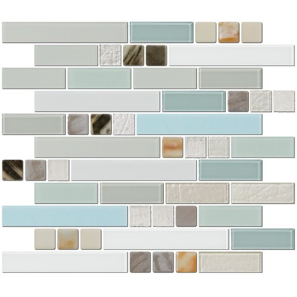 Signature Line Himalayan Beauty Series 3 Glass Mosaic Tile in Gray/Blue by Susan Jablon