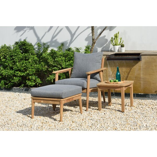Darrah 3 Piece Teak Seating Group with Cushions by Brayden Studio