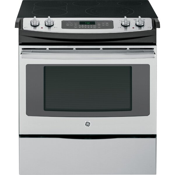 30 Slide-in Electric Range with Griddle by GE Appliances