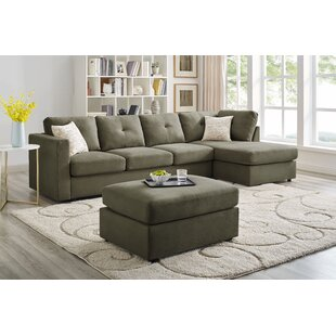 Jed Reversible Modular Sectional with Ottoman by Winston Porter