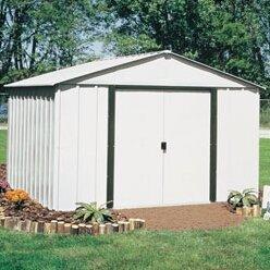 Arlington 10 ft. 3 in. W x 12 ft. 2 in. D Metal Storage Shed by Arrow