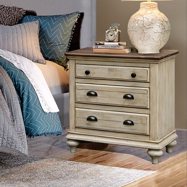 Wilfred 3 Drawer Nightstand by Bayou Breeze