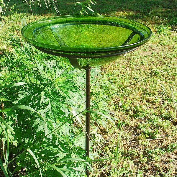 Crackle Birdbath by ACHLA