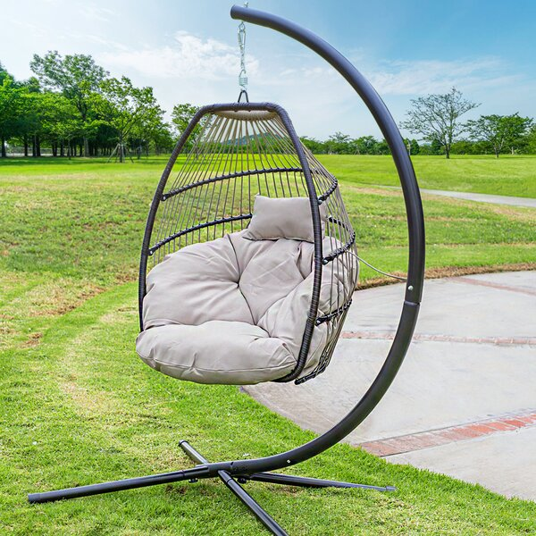 Aviva Outdoor Luxury Wicker Swing Chair by Bungalow Rose Bungalow Rose