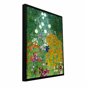 'Farm Garden' by Gustav Klimt Framed Painting Print on Wrapped Canvas by ArtWall