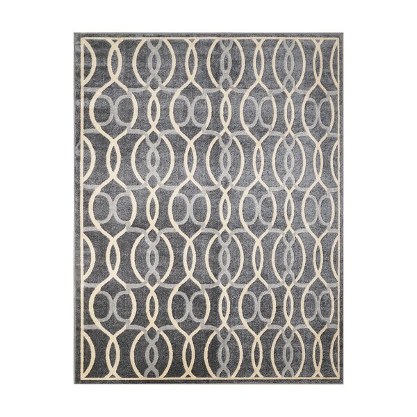 Abraham Charcoal Gray Indoor/Outdoor Area Rug by Ivy Bronx