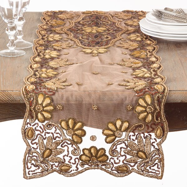 Kammer Hand-Beaded Table Runner by Bloomsbury Market