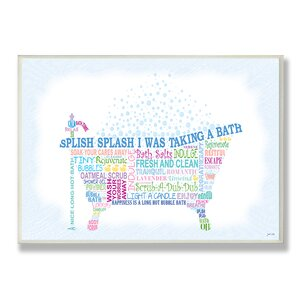 Elisa Bath Typography Framed Textual Art by Andover Mills