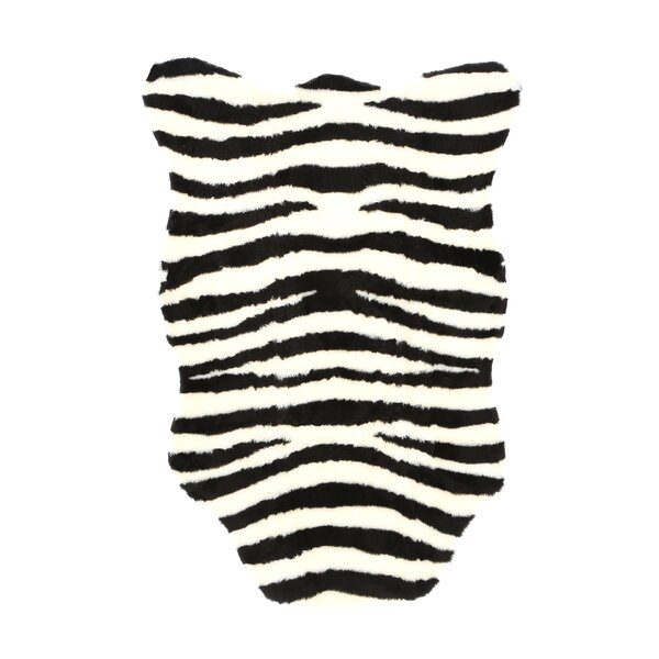 Animal Zebra Bold Striped Area Rug by Walk On Me
