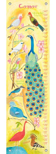 Birds of a Feather - Personalized Canvas Growth Chart by Oopsy Daisy