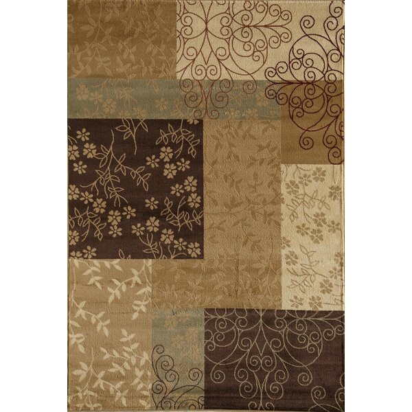 Allston Brown/Tan Area Rug by Threadbind