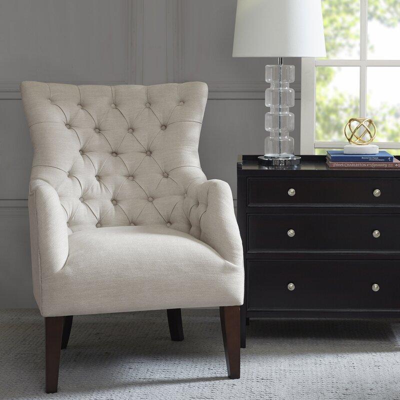 steelton button tufted wingback chair & reviews | birch lane