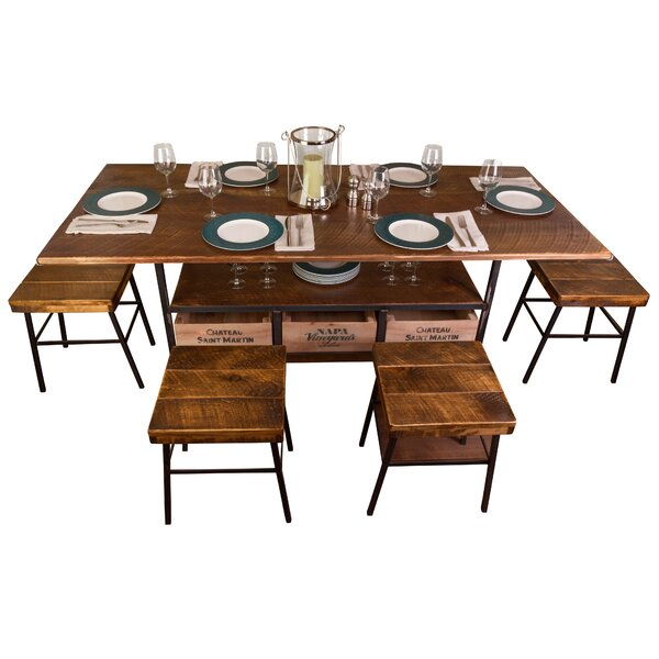 Farm 7 Piece Dining Table by Vino Vintage