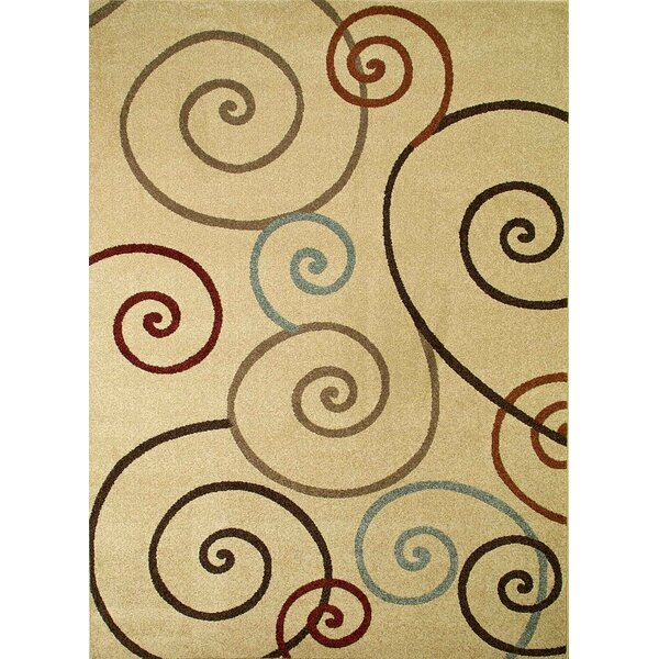 Chester Ivory Scroll Area Rug by Threadbind
