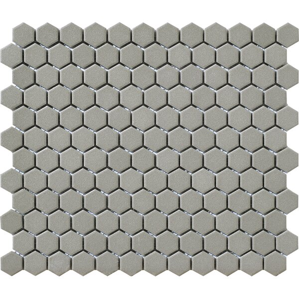 Urban Unglazed 1 x 1 Porcelain Mosaic Tile in Grey Hexagon by Walkon Tile