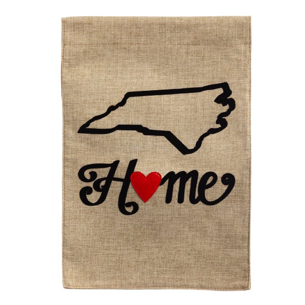 Almeida State of My Heart 2-Sided Garden Flag by E