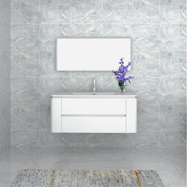 Kleinschmidt 48 Single Bathroom Vanity with Mirror by Orren Ellis