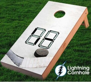 Electronic Scoring Ice Hockey Cornhole Board by Lightning Cornhole