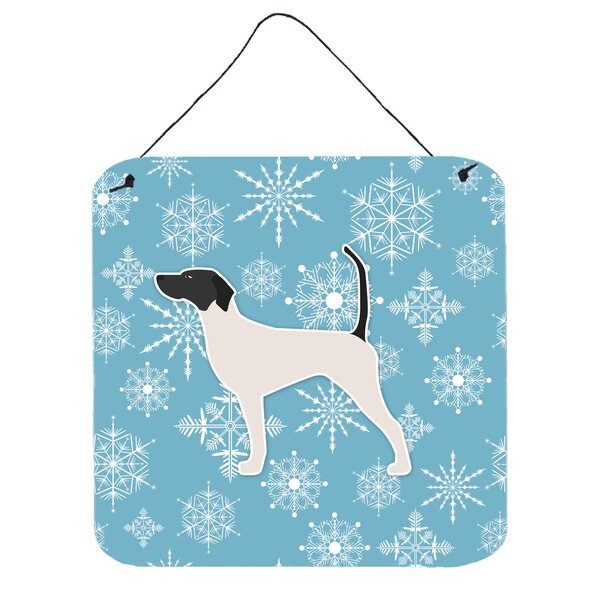 Snowflake English Pointer Wall Décor by East Urban Home